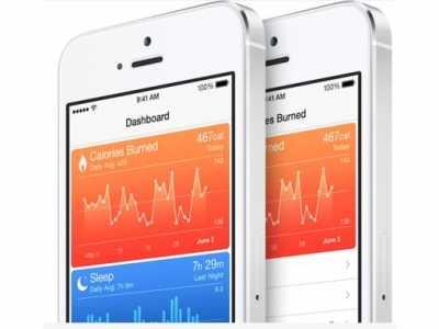 """苹果iPhone手机上的""""健康""""应用 健康手机应用"""