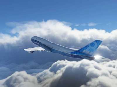 微软飞行模拟新预告 蓝天白云壁纸